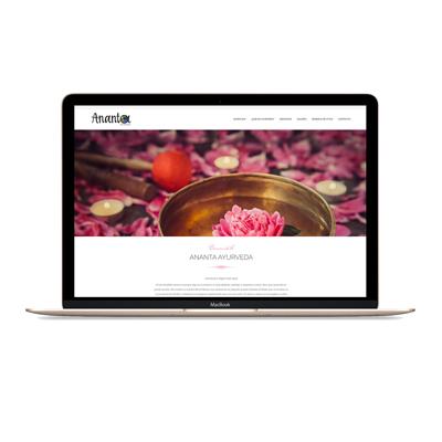 diseño web ananta ayurveda mjdolado