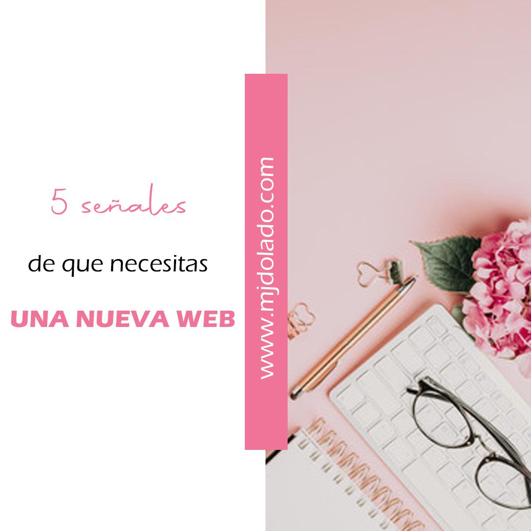 5 señales de que necesitas una nueva web