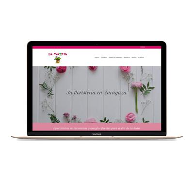 diseño web floristeria la mazeta mjdolado
