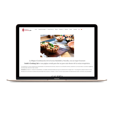 diseño web iraides cooking lab mjdolado