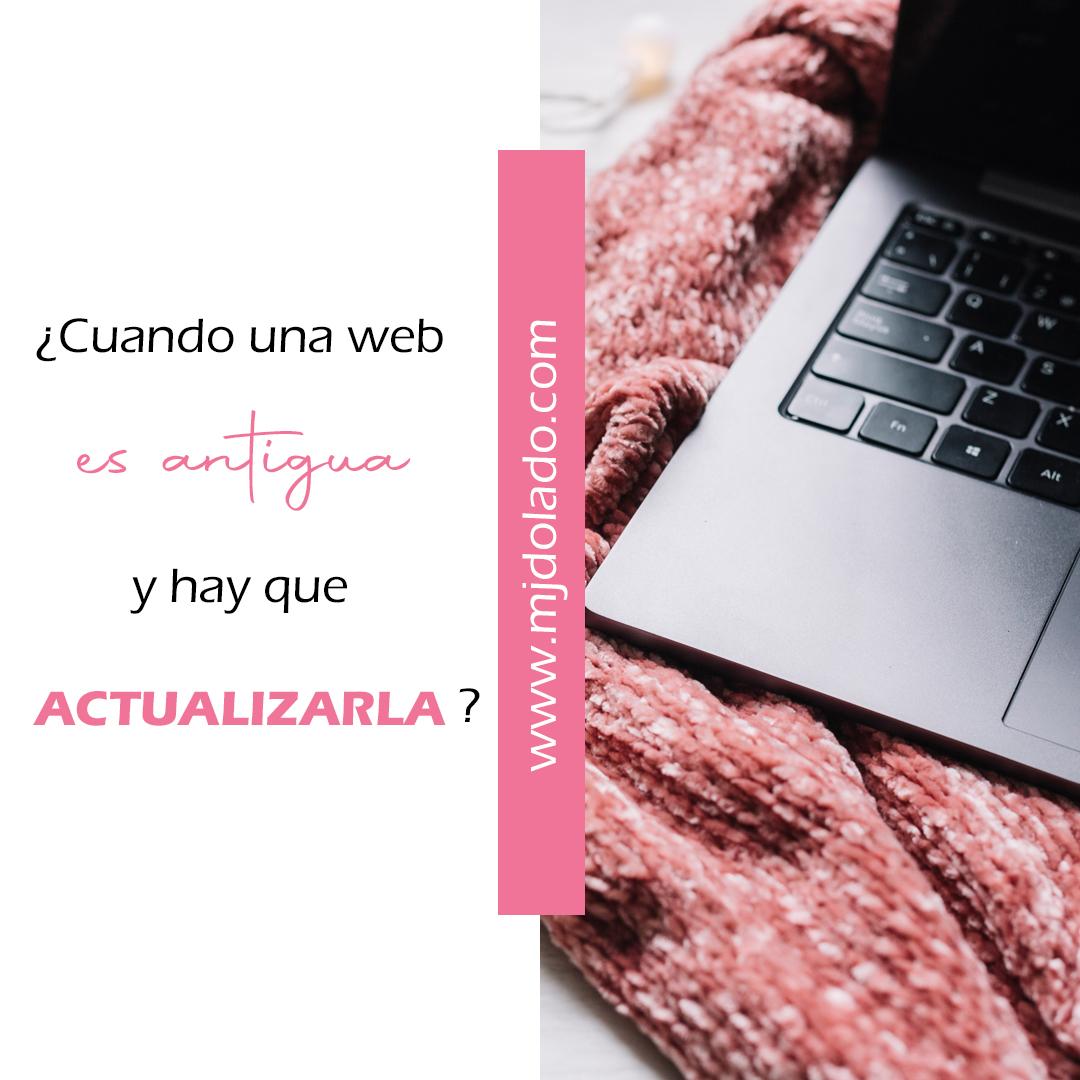 Actualizar web antigua